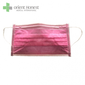 China typeIIR pink color disposable earloop non woven face mask BFE> 99% high quality factory