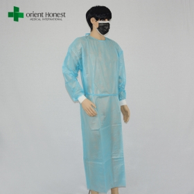China vendor for PP+PE fabric hospital gown,Chinese disposable hospital protective gown,hospital visitors disposable gowns factory