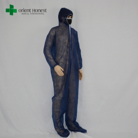 China wholesale dispoasble safety overall,SMS disposable safety wear overalls,disposable safety work clothing supplier factory