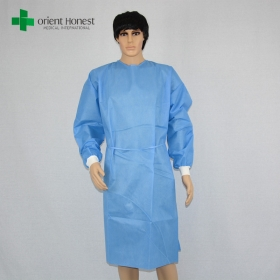 China wholesaler sterilized disposable surgical gown,SMS sterile packing gowns supplier,dispoable surgical gown exporter factory
