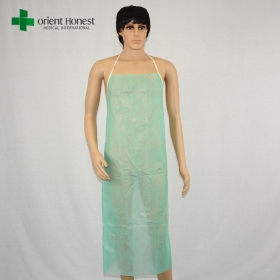 China wholesales China disposable plastic aprons,cheap disposable oil proof apron,non woven apron disposable factory