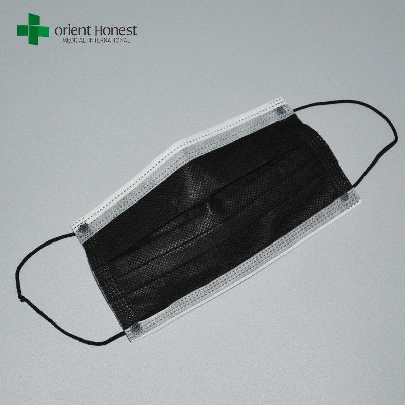 masque jetable noir bouche