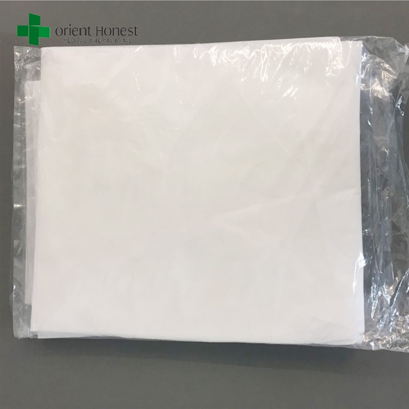 Disposable Sheets For Hotels: Disposable White Hotel Bed Sheet , Low-cost Disposable