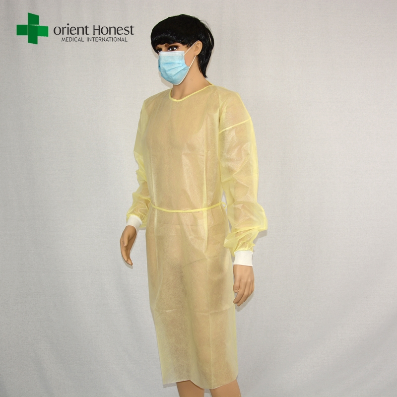 China yellow pp medical isolation gowns ,China manufacturer ...