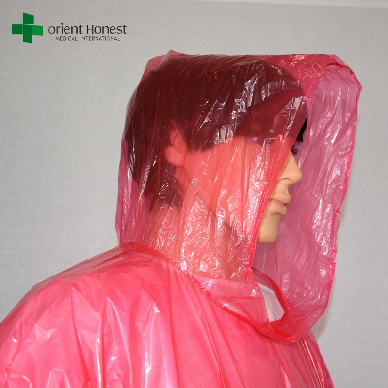 Plastic Disposable Raincoat Pe Plastic Disposable