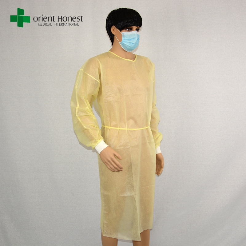 cheap disposable isolation gown yellow,China manufacturer disposable ...